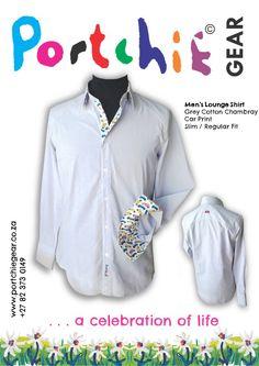 Mens grey shirt by #portchiegear - www.portchiegear.co.za