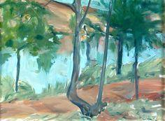 Elaine de Kooning - Untitled (Calcoon Woods), c.1964