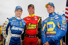 Mark Martin, Clint Bowyer and Martin Truex Jr.
