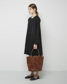 Le Vestiaire De Jeanne / Leather Basket Bag Le Vestiaire De Jeanne / Robe Evaseé Manches Longues
