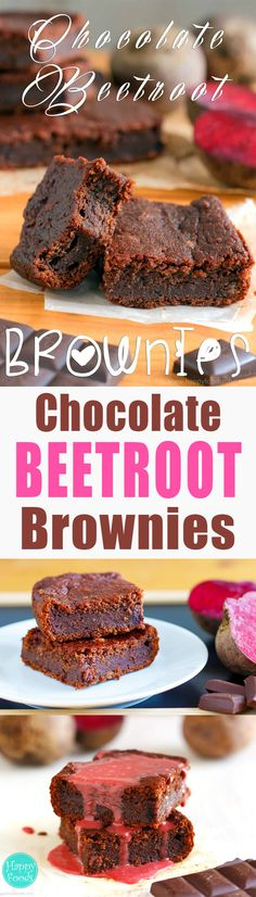 Dark Chocolate Beetroot Brownies - Super easy and surprisingly yummy dessert recipe. Baking with beetroot will give nice colors to your food | happyfoodstube.com