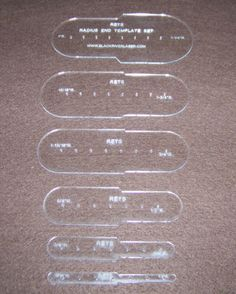 Radius End Strap Template Craftaid Stencil Set for Leather Craft New | eBay