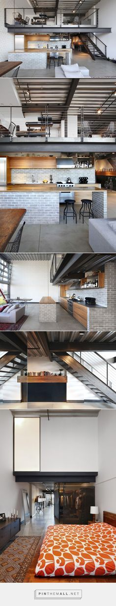 Take a look at this stunning industrial loft with exposed brick walls | www.dvintageindustrialstyle.com #industrialloft #exposedbrickwalls #industriallighting