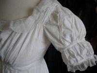 Robe 1er Empire en coton et mousseline des Indes