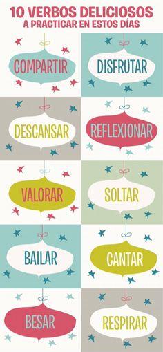 Diez verbos deliciosos a practicar en estos días ¡Feliz Navidad!