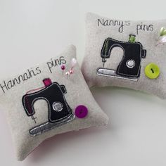 Personalised Sewing Machine Pin Cushion from notonthehighstreet.com