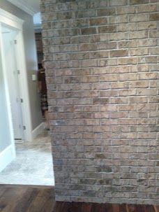 Brick Veneer Wall. Love This Too.