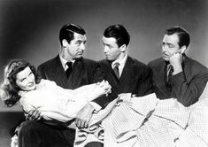 The Philadelphia Story (USA, 1940) - Directed by George Cukor, Starring Katharine Hepburn, Cary Grant, James Stewart.