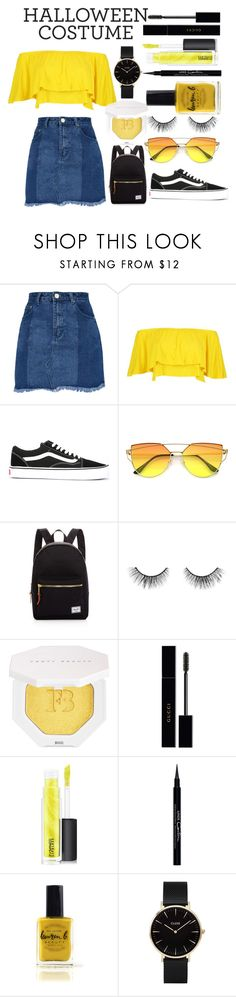 """""""minion"""" by llamazarah ❤ liked on Polyvore featuring Boohoo, Vans, Herschel Supply Co., tarte, Puma, Gucci, MAC Cosmetics, Givenchy, Lauren B. Beauty and CLUSE"""