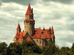 Bouzov Castle - Constructed in the early 14th century.