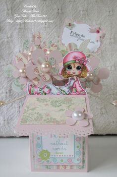 Pop Up Box Card - featuring Sherri Baldy My Besties Stamps Blog: http://thetara148.blogspot.com/