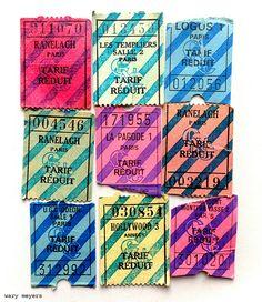 Paris Theater Tickets, 1980's