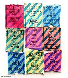 Paris Theater Tickets, 1980's