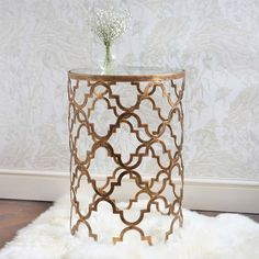 Quatrefoil Metal Side Table