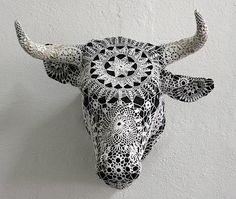 crochet bull