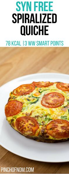 Syn Free Spiralized Quiche | Pinch Of Nom Slimming World Recipes    78 kcal | Syn Free | 3 Weight Watchers Smart Points