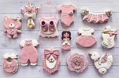 "Tonilyn on Instagram: ""Baby shower princess cookies #edibleart #babyshower #princess #thatsdarling  #handmade #cookieartist #ediblefavors #instasweets #sugarart…"""