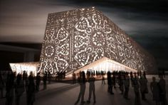 the Polish pavilion at the World Expo in Shanghai in 2010 by wwa architects. The lace pattern showcases the Polish folk art paper cuts. Architecture Cool, Pavilion Architecture, Sustainable Architecture, Architecture Foundation, Plywood Design, Polish Folk Art, Stage Design, Deco, Tiny Houses