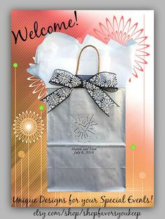Wedding Welcome Bags For Guests, Gifts for Wedding Guests, Favor Bags, Wedding Guest Gift Bags ~sturdy & holds 5+ lbs. FREE SHIPPING!*