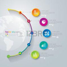 インフォグラフィック: タイムラインのインフォ グラフィック デザイン テンプレート