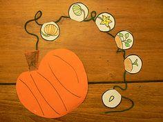 Life Cycle of a Pumpkin Life Cycle Cards Pumpkin Life Cycle Bracelet Read: 1 inch orange scrapbook paper squar. Science Halloween, Halloween Activities, Autumn Activities, Classroom Activities, Halloween Week, Sequencing Activities, Preschool Classroom, Halloween Ideas, Fall Preschool