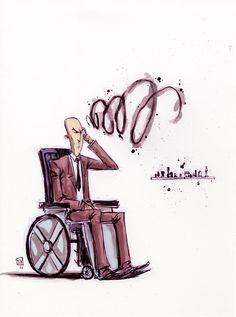 Scotts and Skotties Daily Character Sketches: Skottie: Professor X