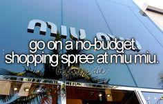 no budget shopping spree