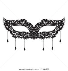printable lace masquerade mask template google search craft