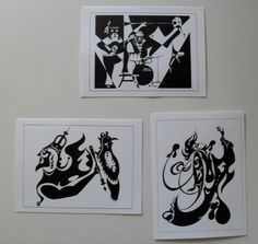 $8.99  SET OF 3 Black White Fine ART Cards Blank Untitled BY Jacek Witecki | eBay  #holiday #stationary #greetingcard