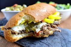 Crock Pot Italian Beef Sandwiches are so delicious - and made with just 5 ingredients! Italian Beef Recipes, Slow Cooker Italian Beef, Italian Beef Sandwiches, Italian Roast, Crock Pot Slow Cooker, Crock Pot Cooking, Hot Sandwich Recipes, Crockpot Recipes, Cooking Recipes