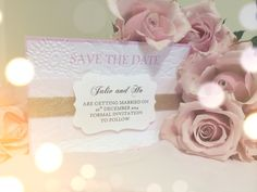 My diy homemade romantic elegant vintage save the date cards