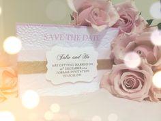 My diy homemade romantic elegant vintage save the date cards