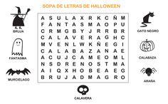 Dibujos para Colorear: Sopa de letras Halloween