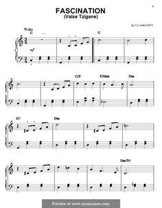 Fascinação (Fascination): For easy piano by Filippo Marchetti