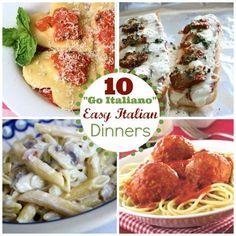 Looking for an easy dinner kids love? Go Italiano: 10 Italian Dinner Recipes!