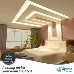 Gyproc # falseceiling can completely change your bedroom & give ...