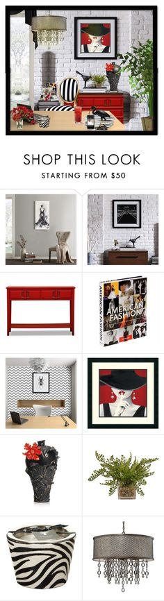 """""""Untitled #5182"""" by julissag ❤ liked on Polyvore featuring interior, interiors, interior design, home, home decor, interior decorating, Madison Park, Ink & Ivy, Assouline Publishing and Oakdene Designs"""
