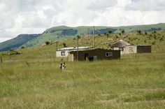 Houses in a Peace Corps Volunteer's community in rural South Africa. #PeaceCorps #SouthAfrica