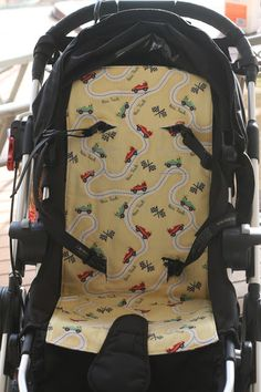 When I bought my sewing machine I wanted to make a pram liner for our pram…