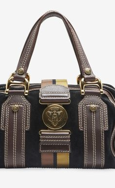 Gucci Brown And Black Handbag