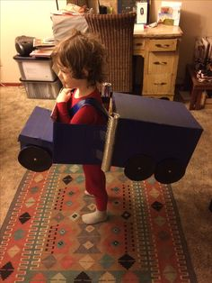 Car Costume, Costumes, Halloween Ideas, Toddler Bed, Truck, Kids Rugs, Furniture, Home Decor, Child Bed