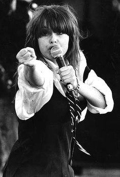 Chrissy Amphlett of the Divinyls performing.