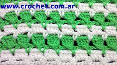 Punto Fantasía N° 14 en tejido crochet tutorial paso a paso.