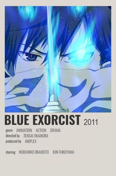 Jun Fukuyama, Blue Exorcist, Drama, Minimalist, Animation, Movies, Movie Posters, Film Poster, Films