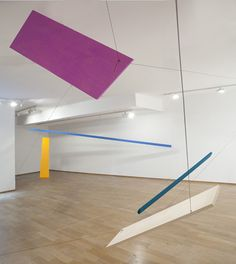 Joel Shapiro, Untitled (end of summer), 2012 In situ Installation: wood, casein and cord, Dimensions variables