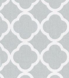 Keepsake Calico™ Cotton Fabric-Quatrefoil Gray&White