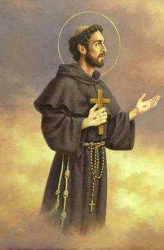 Catholic Art, Catholic Saints, Roman Catholic, Francis Of Assisi, St Francis, Religious Icons, Religious Art, Dia San Francisco, Clare Of Assisi