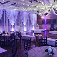 33 Ideas For Wedding Decorations Ceiling Draping Quince Decorations, Wedding Decorations, Decor Wedding, Backdrop Wedding, Sweet 16 Decorations, Rustic Wedding, Purple Wedding, Dream Wedding, Trendy Wedding