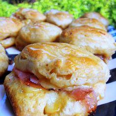 Honey Ham Biscuit Sliders - Football Friday   Plain Chicken