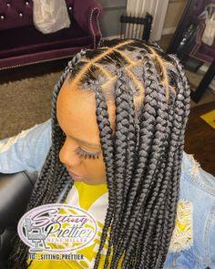 Black Box Braids, Large Box Braids, Blonde Box Braids, Braids For Short Hair, Box Braids For Kids, Long Braids, Box Braids Hairstyles For Black Women, Kids Braided Hairstyles, African Braids Hairstyles